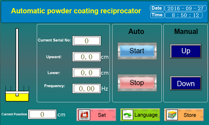 PLC Controlled Powder Coating Reciprocator